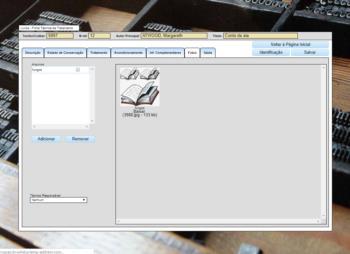 Tela de Inclusão de Imagens e Arquivos Complementares