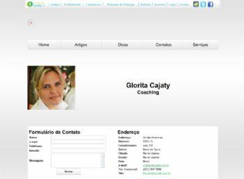 Página de detalhes de profissionais com fomulário para comunicação direta.