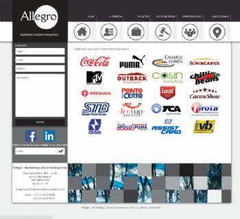 Exemplo de página de clientes.