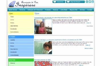 Exemplo de página de publicação de artigos.