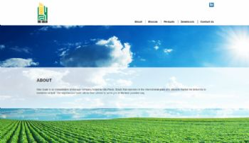 Visualização da página inicial.