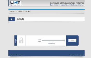 Página de login da versão desktop do frontend.