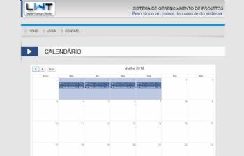 Exemplo do calendário de escolha de dias e registro de quais tarefas foram realizadas nos dias específicos.