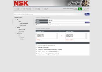 Exemplo da página de configuração do sistema.