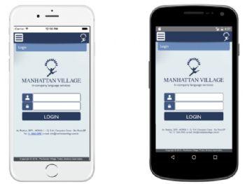 Tela de entrada de usuário do aplicativo disponível para o aluno.