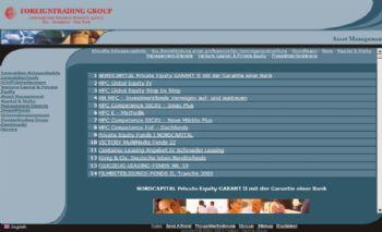 Exemplo de listagem de projetos.