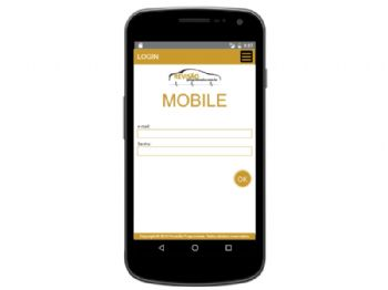 Tela de log-in da versão mobile.