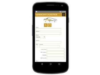 Exemplo de tela de entrada de dados da versão mobile.