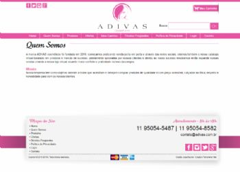 Exemplo de página institucional.