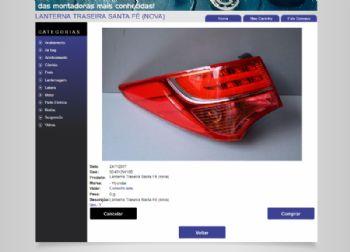 Exemplo de página de detalhes do produto.
