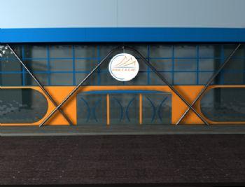 Vista da fachada.