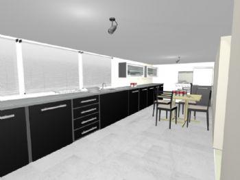 Cozinha - apartamento 01.