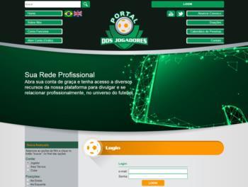 Exemplo de página de login.
