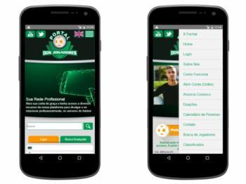 Versão mobile - exemplo da página inicial.