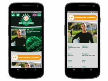 Versão mobile - exemplo da página de detalhes do perfil.