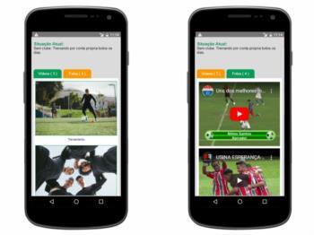 Versão mobile - continuação do exemplo da página de detalhes do perfil.