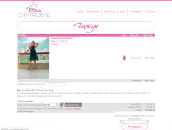 Exemplo da página de carrinho de seleção de produtos.