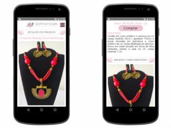Página de detalhes dos produtos - versão mobile.