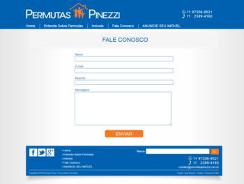 Página de contato com formulário.