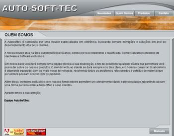 """Auto Soft Tec - 2003<div>Portfólio completo: <a href=""""https://www.jorgemauricio.com/pt/SiteProdutosDetalhes.aspx?idTbProdutos=1474"""">www.jorgemauricio.com/pt/SiteProdutosDetalhes.aspx?idTbProdutos=1474</a></div>"""