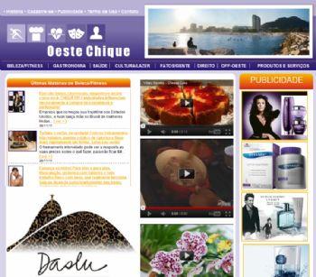 Página inicial do portal.