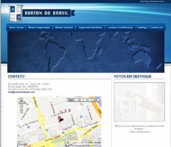 Página de contato e localização.