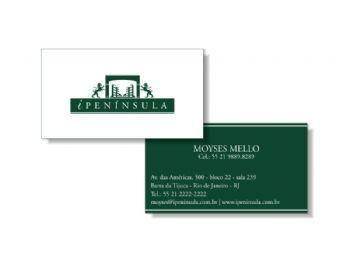 Cartão de visita - frente e verso.
