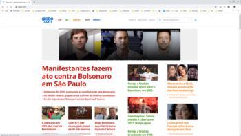 Print screen do site da Globo.com.