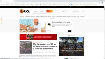 Print screen do site da UOL.