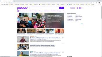 Print screen do site do Yahoo.