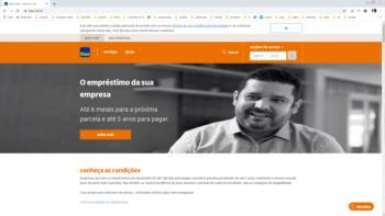 Print screen do site do Itaú.
