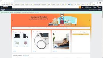Print screen do site do Amazon.