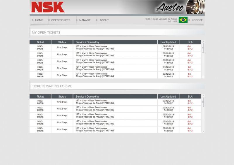 NSK - Layout Para Intranet