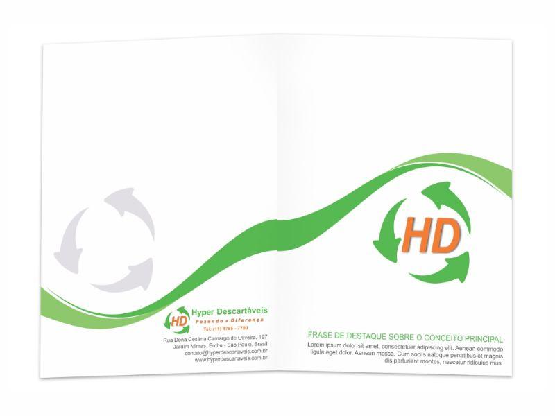 HD Hyper Descartáveis - Pasta Com Lâminas
