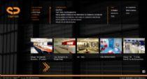 Exemplo de página de navegação pelo portfólio.