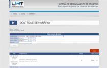 Exemplo da página de entrada de dados sobre os trabalhos realizados.