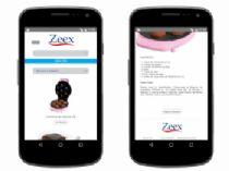Exemplo de página de listagem de receitas da versão mobile e detalhes da receita.