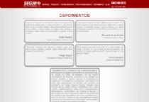 Exemplo de página dos depoimentos.