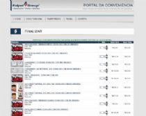 Listagem dos produtos selecionados para revisão e alteração de quantidade pelo cliente.