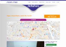 Exemplo da página de detalhes da vaga disponível, integrado com o API do Google Maps.